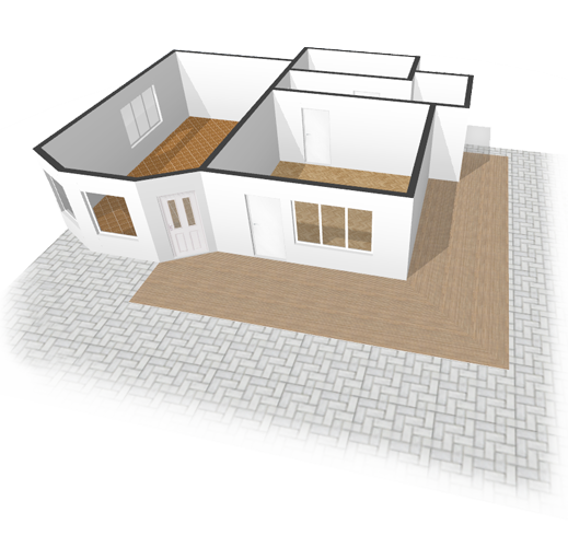 demo floor plan 3d view of floor plan - House Plans In 3d For Free